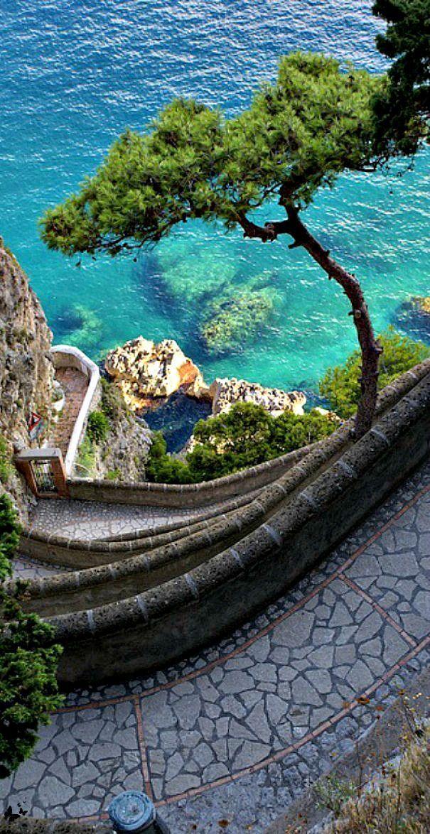 Via Krupp, Capri, Italy. | Italy vacation | Beautiful ...