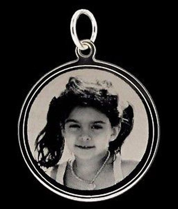 Sterling Silver Photo Engraving Round Disc Pendant 24mm