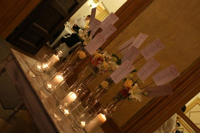 Floral marriage table
