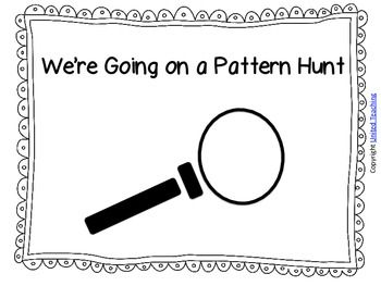 Here's a booklet for finding patterns in the world around us.