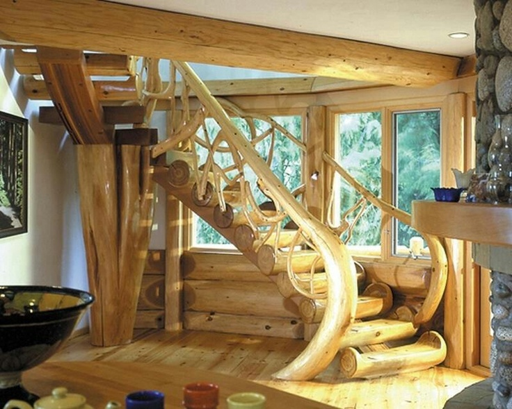 1000 Images About Rustic Staircases On Pinterest Log
