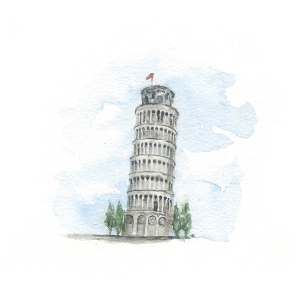 The Leaning Tower Of Pisa By Nicole Keaton On In 2020 Pisa