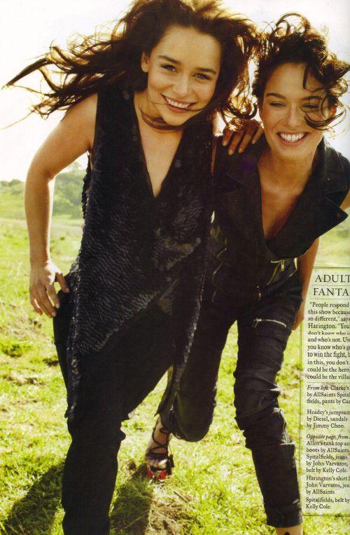 Emilia Clarke & Lena Headey- Rolling Stone Magazine - game-of-thrones Photo