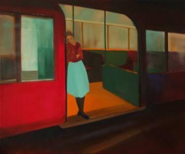 """Saatchi Art Artist Marta Zamarska; Painting, """"On the Subway"""" #art"""