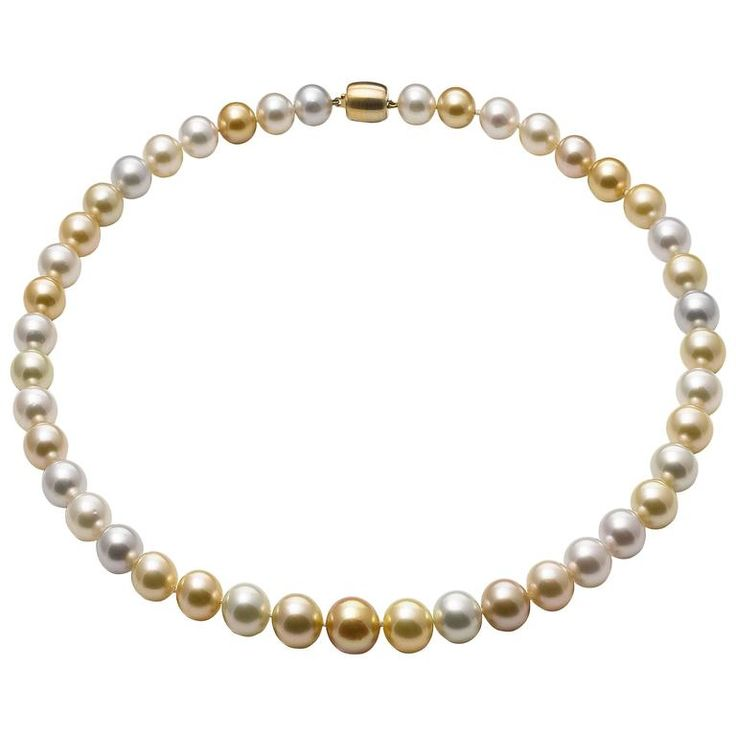 Lust Pearls South Sea Pearl Strand Yellow Gold Clasp | From a unique collection of vintage more necklaces at https://www.1stdibs.com/jewelry/necklaces/more-necklaces/