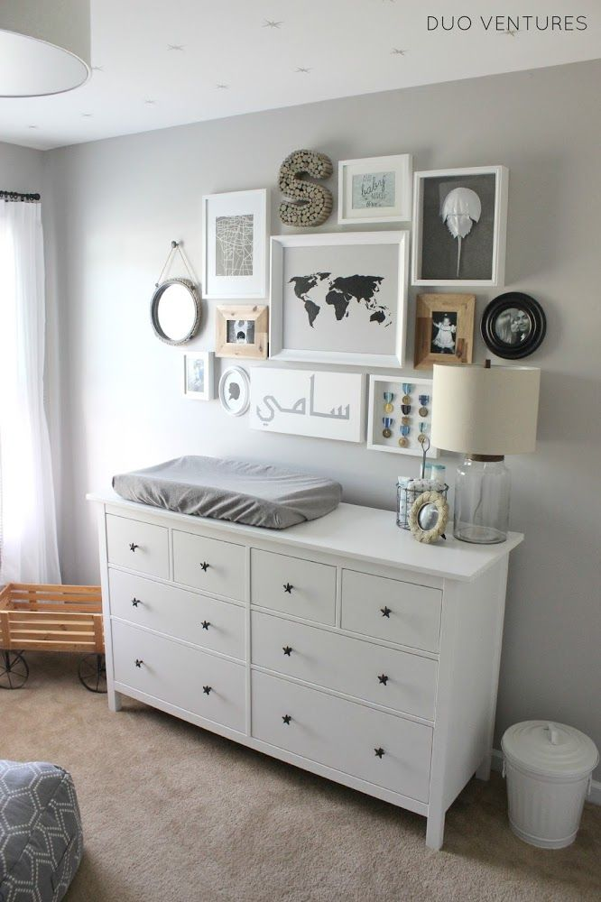 Duo Ventures: The Nursery: Custom IKEA Hemnes Dresser