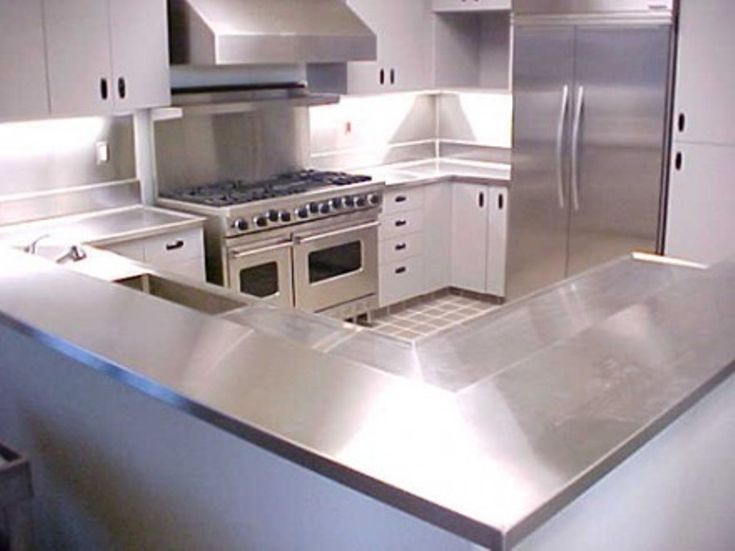white kitchen cabinets stainless steel countertops best 25 stainless steel countertops cost ideas on 28932