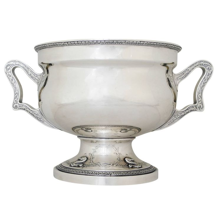 Gorham Sterling Silver Special Order Large Wine Bucket, circa 1912 | From a unique collection of antique and modern serving bowls at https://www.1stdibs.com/furniture/dining-entertaining/bowls/