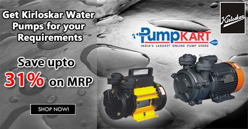 #Kirloskar is a world famous pump manufacturing company produces different pump sets for irrigation, power plants, mines and many other #industrial applications. Buy Kirloskar #Water #Pumps Online from #Pumpkart.com and get Up to 31% discount. It is a leading #B2C and #B2B #shopping portal for connecting buyers and sellers online.