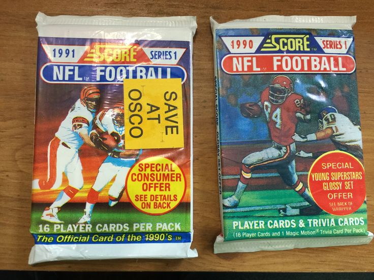 Qty of 2 Unopened 1990-1991 NFL Football Score Cards Series 1