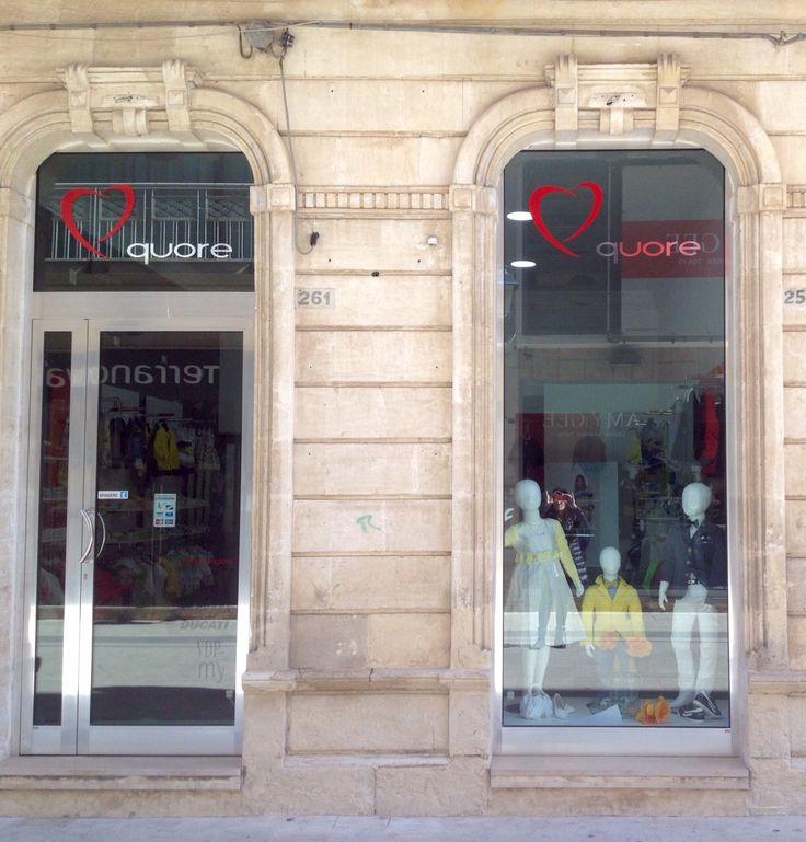 L'esterno di Quore Vittoria in via Cavour, 261 a Vittoria (RG) in Sicilia - Italy #kidswear #abbigliamentobambino #outfit #sicily