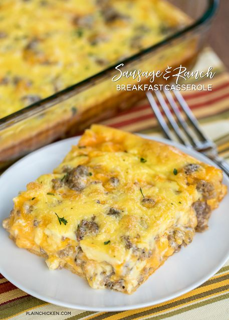 Sausage and Ranch Breakfast Casserole