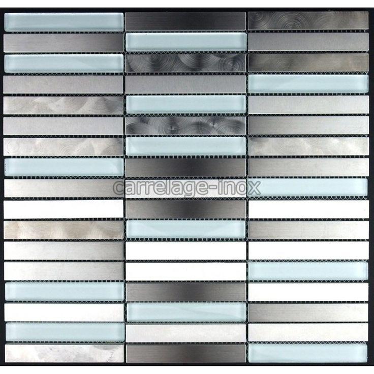 mosaique inox verre carrelage inox. les plaques de mosaique et carrelage inox sont de veritables plaques d'inox collees sur du gres cerame
