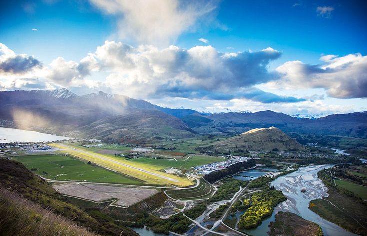 The approach to Queenstown Airport in New Zealand has been voted as the most stunning in t...