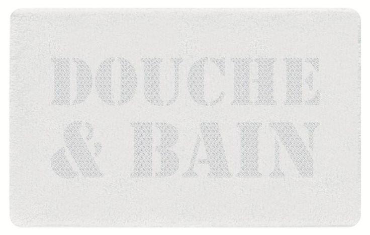 Grand tapis de Bain B&D Blanc - HomeBain