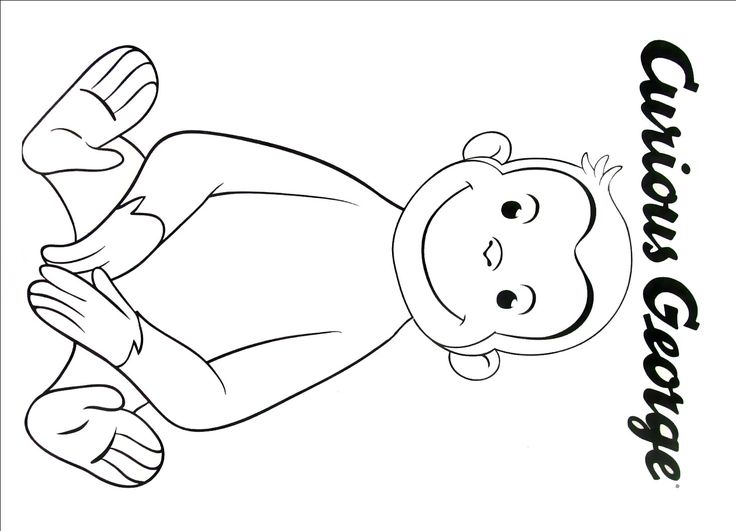 coloring pages curious george - 33 best curious george coloring book pages images on