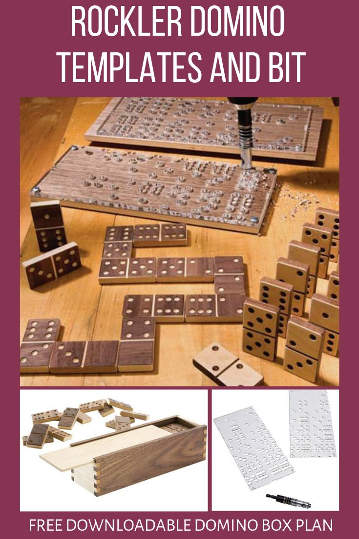 Rockler Domino Templates and Bit, with FREE Downloadable