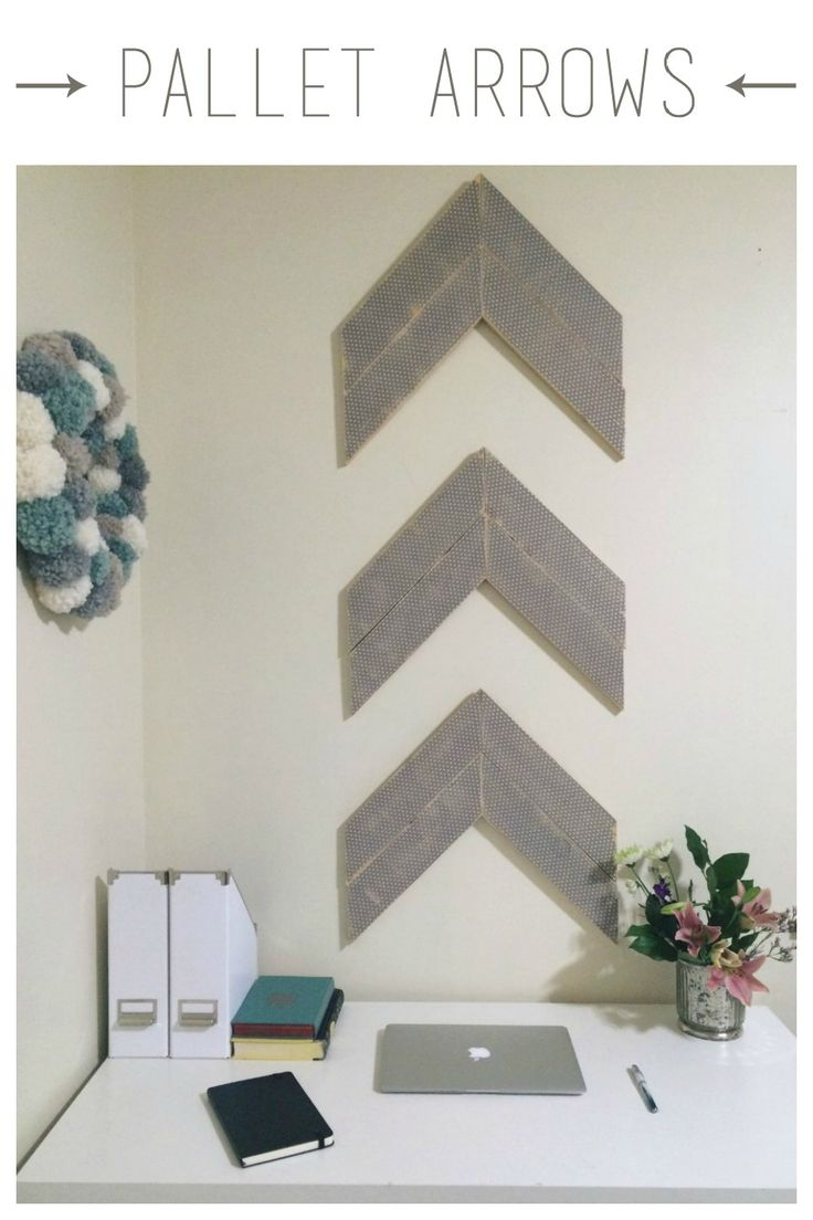Pallet Arrow Wall Decor — Being Spiffy