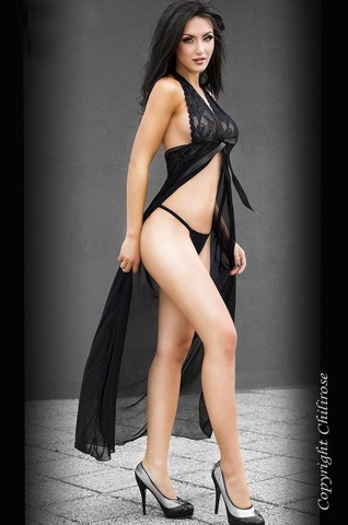 Chilirose Paramour Negligee £25.99 Alluring halterneck negligee. Fine mesh with soft lace detailing. Elasticated under bust. Supplied with matching string.  www.townoftoys.co.uk