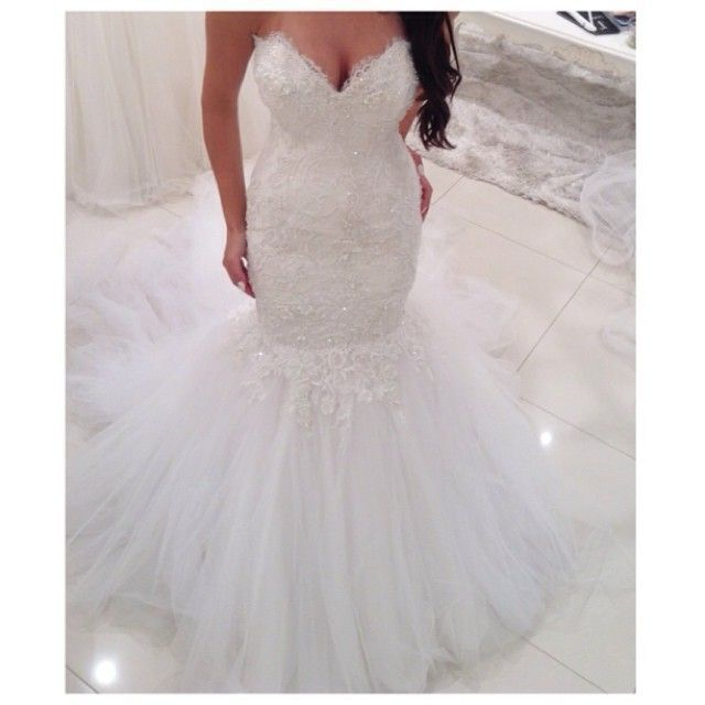 Elegant Sweetheart Corset Mermaid Land Trouwjurken 2016 Puffy Tule Rok Bruid Jurken Casamento robe de mariage