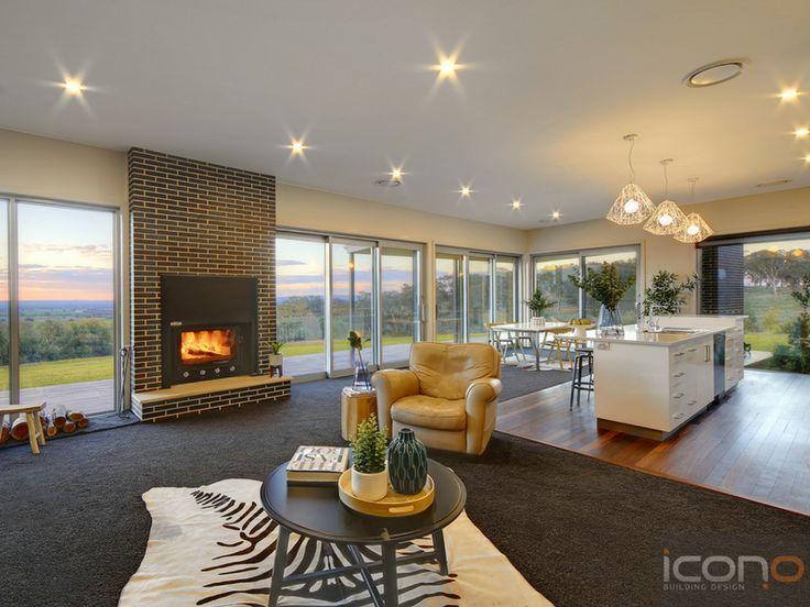 Open kitchen & Lounge room. #iconobuildingdesign