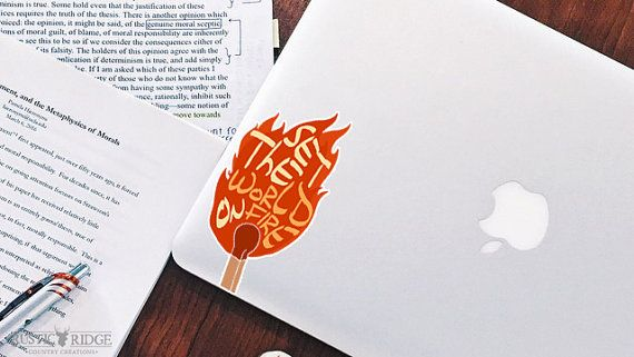 Set the world on fire - Quote - Laptop Decals - Laptop Stickers - Car Sticker - Car Decal - Window Decal - Window Sticker