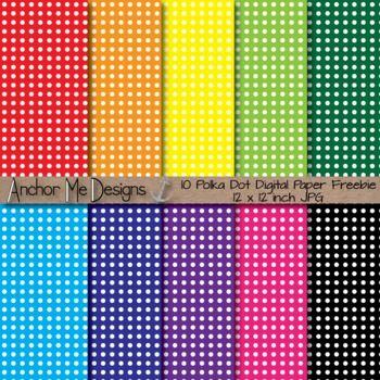 FREE Polka Dot Paper 12 x 12 JPG Freebie