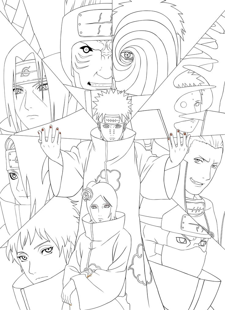 Naruto Artbook Akatsuki Lineart [PSD] By Rollando35 On