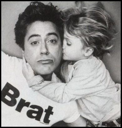 Robert Downey Jr and son