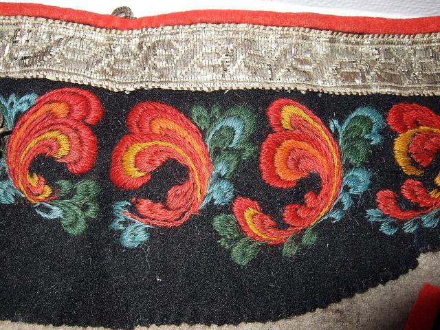 Porsgrunn, Telemark Fylke, NO embroidery fragment