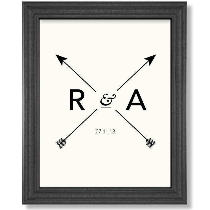Personalised wedding monogram print. Affordable art prints and posters for your home. Visit www.hardtofind.com.au for the full range. #art #prints #posters #home #wedding