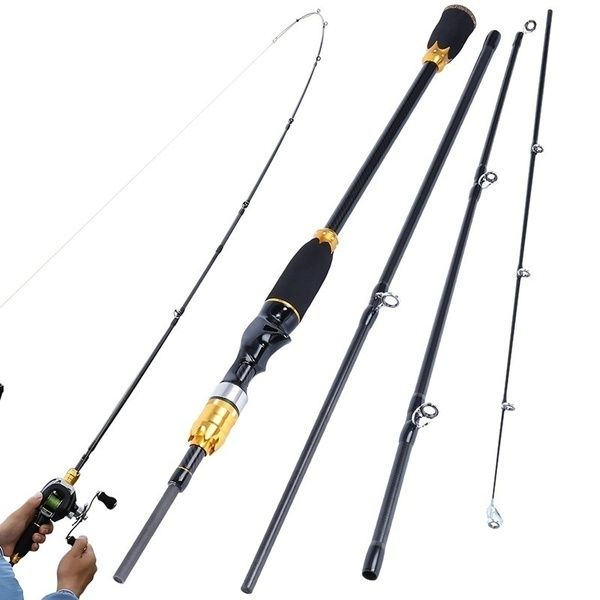 Casting Rod Reel Combos 1 8m 2 1m Right Or Left Hand 4 Pieces Carbon M Power Casting Fishing Rods And 17 1bb Baitcasting Reels Baitcast Set Wish Rod And Reel Casting Rod It Cast