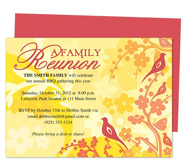 Haven Reunion Party Invitations Templates Invitation Template