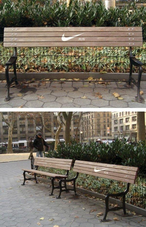 Brilliant Nike bench by ad creatives Anna Echiverri and Annie Chiu.