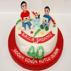 40 Yaş Baba Doğum Günü Pastası