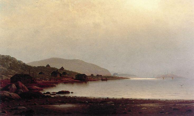 Fishermen's Homes near Cape St. Johns, Coast of Labrador William Bradford (1876)