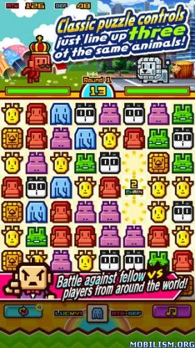 Zookeeper Battle v4.2.5 (Unlimited CP)Requirements: 2.3 +Overview: Battle online against players from around the world!Zookeeper, the popular action puzzle game played by over 10 million people, is now a Battle Puzzle, and is...