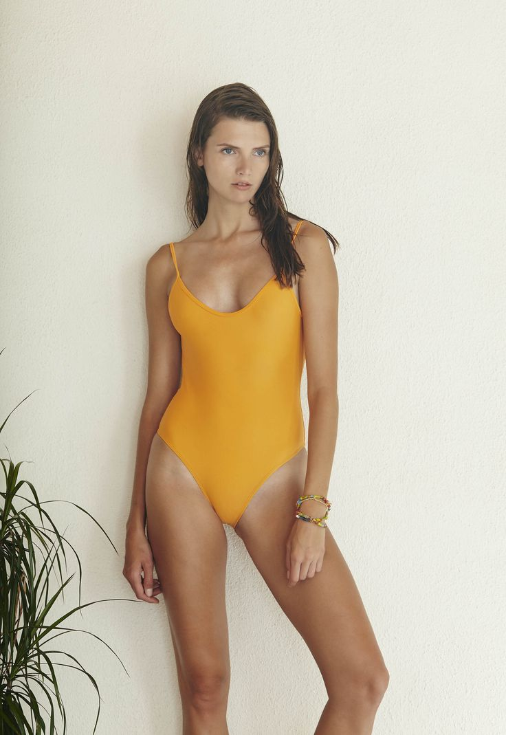 Hutton One Piece in Orange  http://www.bowerswimwear.com/collections/spring-2016-francois/products/hutton-one-piece-orange