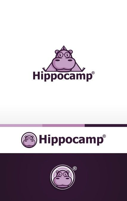 Create a clean, playful logo for mobile app and indie video game developer Hippo Camp Software by I.R