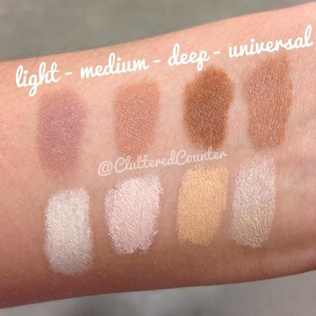 Here S A Swatch Comparison Of The Different Shades That