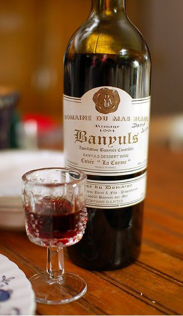 Banyuls - Best wine to pair with Chocolate. A desert wine based on Grenache.  Domaine du Mas Blanc.
