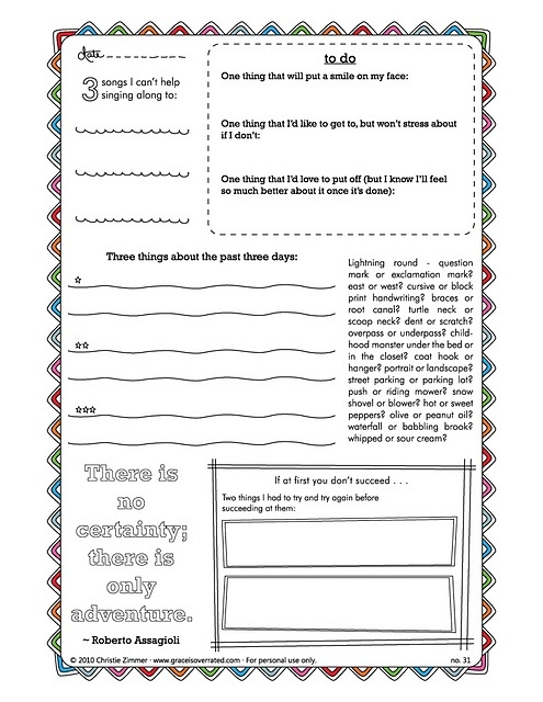 journal template for pages