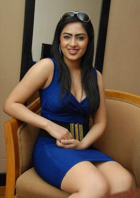 Nikesha Patel Hot in Blue Dress