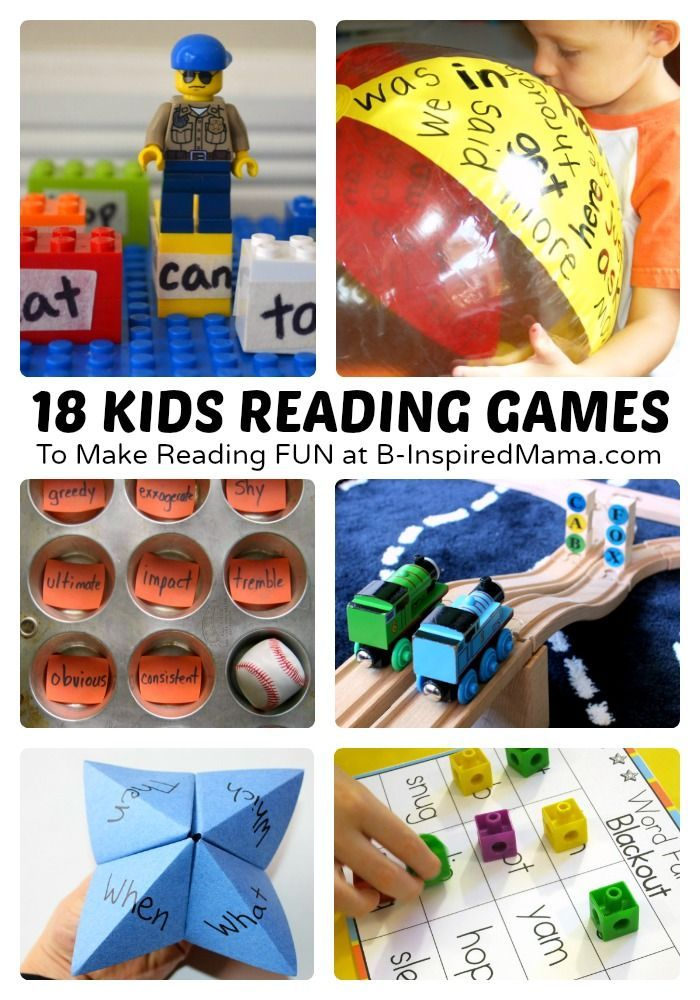18 Fun Kids Reading Games and Activities to Make Reading More Fun! Perfect for Homeschool or Preschool