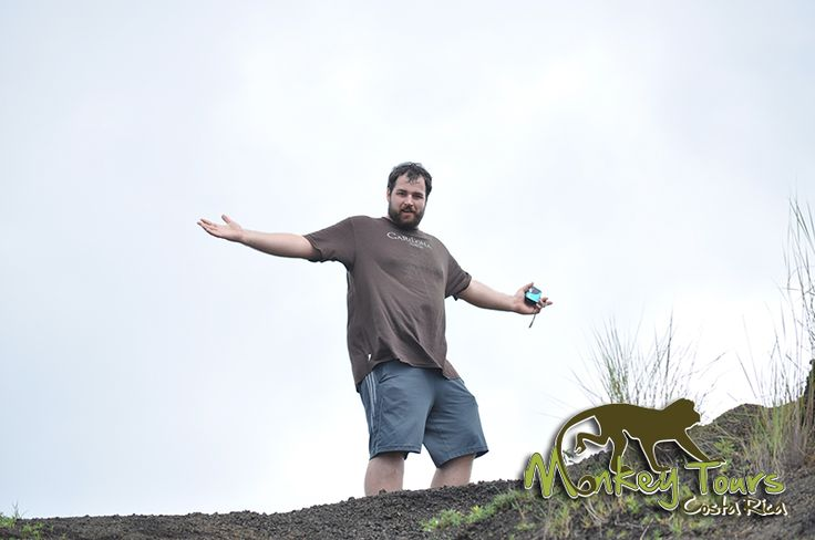 Man hiking at the Masaya Volcano National Park in Nicaragua while on a guided vacation tour... See more at: https://costaricamonkeytours.com/costa-rica-tour/
