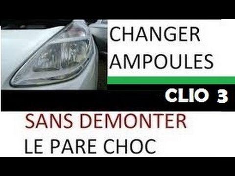 ✅ Comment Changer les AMPOULES H7 CLIO 3 SANS Démonter LE PARE CHOC et SANS PASSER PAR LE GARAGE @_@  #ampoules #changer #demonter