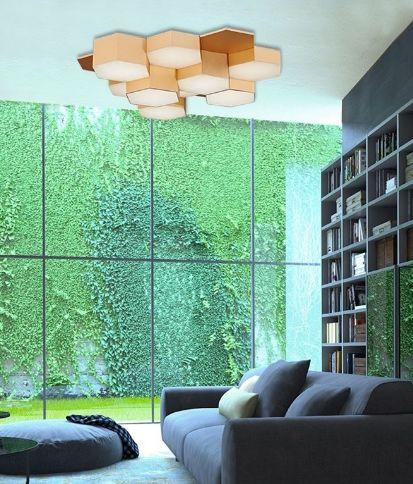 Kourtakis Lighting - Ιδιαίτερο #φωτιστικο #οροφης από μέταλλο κ ακρυλικό. Είναι #LED με ενσωματωμένες πλακέτες με θερμό λευκό φωτισμό. Βρείτε το σε χρώμα χρυσό ή χρώμιο. http://kourtakis-lighting.gr/fotistika-orofis-indoor-fotistika-krebatokamaras-fotistika-saloniou-diakosmisi/3509-led-moderno-fotistiko-orofis-43watt-metallo-gold-akryliko-nova-luce-pettine-mx130030329a.html