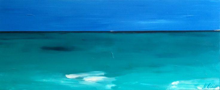 Blue Horizons by Myra Mitchell. See more http://www.artinvesta.com/artist/89