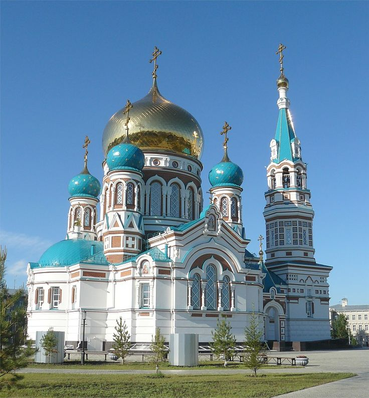 Omsk, Russia: Church of the Dormition of the Theotokos