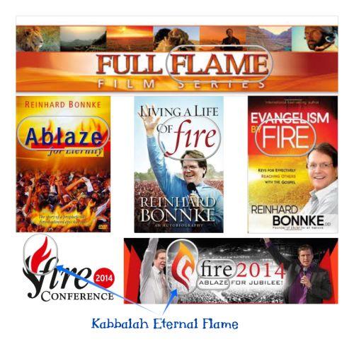 Reinhard Bonnke Kabbalah Flame Collage